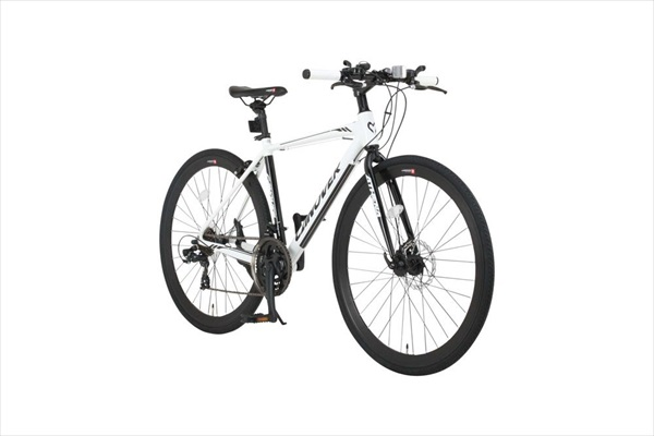 自転車 CANOVER カノーバー CAC-027-DC ATHENA マットブラック ホワイト クロスバイク(代引不可)【送料無料】