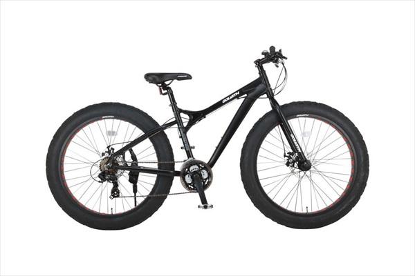 自転車 CANOVER カノーバー CAFT-052-DD GOLIATH マットブラック ホワイト ファットバイク(代引不可)【送料無料】