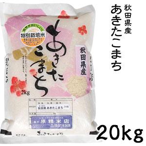 米 日本米 令和元年度産 秋田県産 あきたこまち 20kg ご注文をいただいてから精米します。【精米無料】【特別栽培米】【新米】(代引き不可)