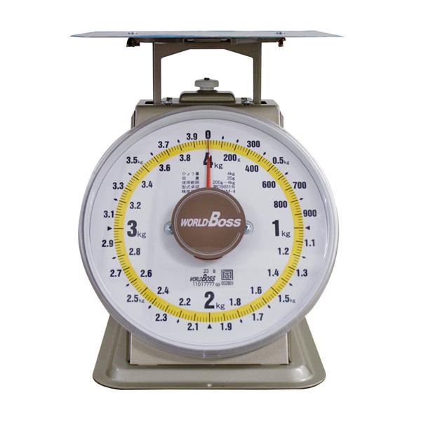 ワールドボス WORLD BOSS 並型上皿自動秤 4kg(代引不可)【送料無料】