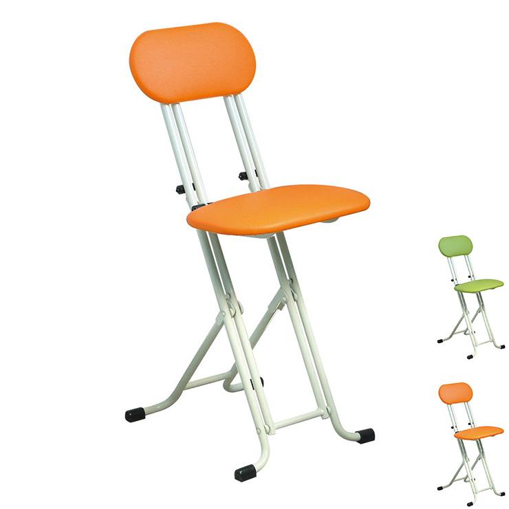 ニューベストホビーチェア 高さ調整式 折りたたみチェア 日本製 パイプ椅子 補助椅子 ワーキングチェア(代引不可)【送料無料】