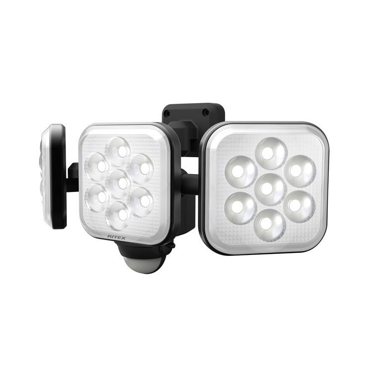 RITEX ライテック ムサシ 8W×3灯 フリーアーム式 LEDセンサーライト 防犯ライト LEDライト 人感センサーライト 屋外 防犯グッズ(代引不可)【送料無料】