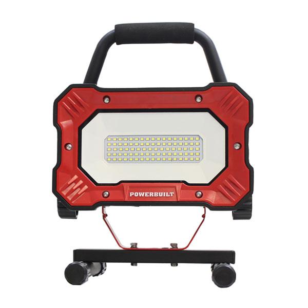 POWER BUILT(パワービルド) 84LED 投光器 作業灯 4000Lm 防水規格IP54 夜間作業 夜間ライト LEDライト 充電式 手元ライト(代引不可)【送料無料】