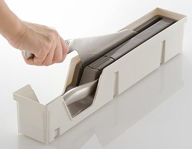 引出し式システムキッチンの整理整頓に リッチェル トトノ 引き出し用包丁差し
