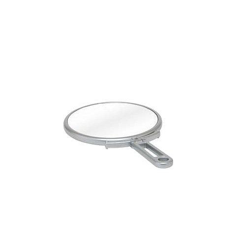 便利な3倍拡大鏡付き 卓上鏡と手鏡の2WAY仕様 人気ブランド メリー 拡大鏡付 折立ハンドミラー 代引不可 CH-8740 高い素材 S シルバー