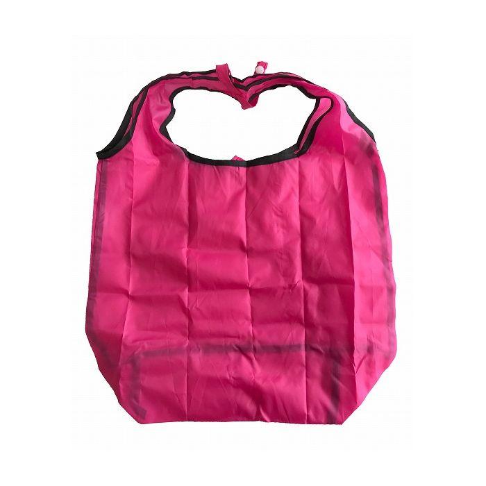 送料無料 レジ袋 日本産 折りたたみ コンビニバッグ 軽量 ショッピングバッグ ピンク 爆安 62257 大和物産 携帯用マイバッグ