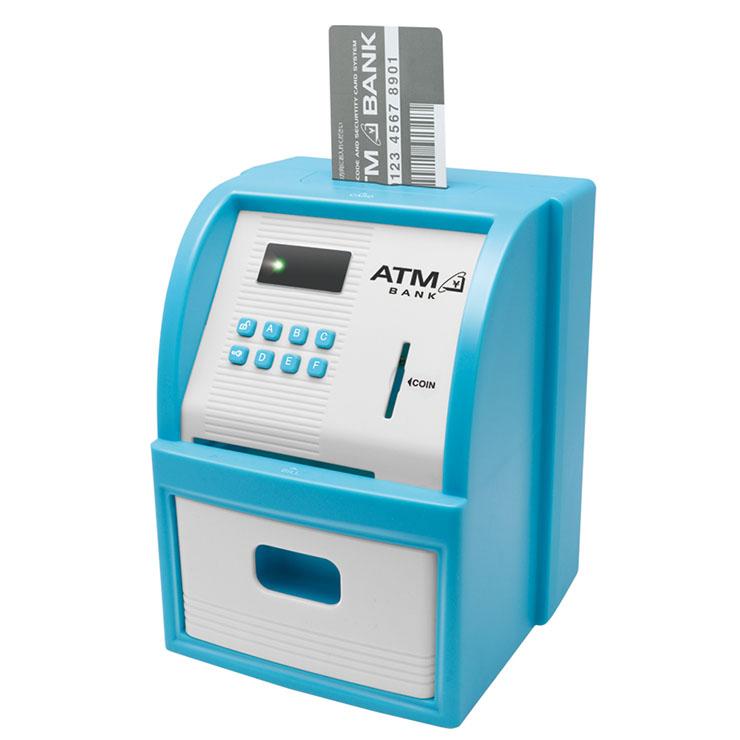 送料無料 ATM セキュリティバンク 送料無料お手入れ要らず 貯金箱 玩具 子供用 数量限定アウトレット最安価格 KTAT-001L おもちゃ