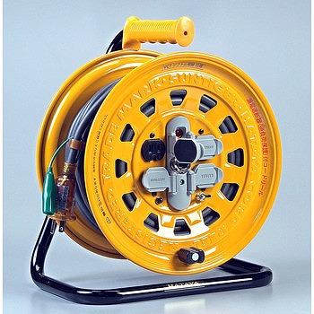 ハタヤリミテッド ハタヤ サンタイガーリール 漏電遮断器付・接地付 BG-301KX【送料無料】