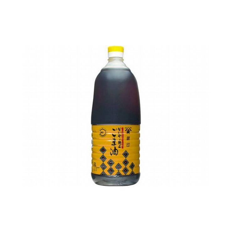 【まとめ買い】 ヤマカクかどや 銀印ごま油 濃口 ポリ 1650g x6個セット 食品 セット セット販売 まとめ(代引不可)【送料無料】