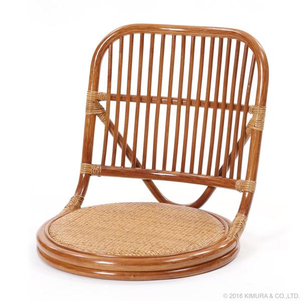 ラタンやわらか座椅子 籐家具 インテリア イス 座椅子 腰かけ フロアチェア ロー 籐 寝室 和室 アジアン エスニック ナチュラル(代引不可)【送料無料】