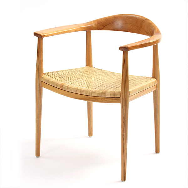 100周年記念モデル IDENTITY チーク製 ダイニングアームチェア イス 椅子 アームチェア ダイニング チェア チーク 木製 ラタン(代引不可)【送料無料】