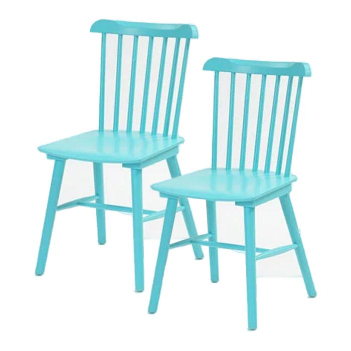 家具 インテリア ダイニングチェア ウィンザーチェア 食卓椅子 イス いす 腰掛け 2脚セット 木製 食卓用 ダイニング 北欧(代引不可)【送料無料】