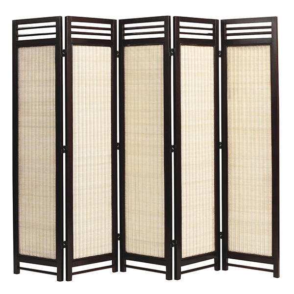 アジアン スクリーン 5連 N(ナチュラル) 籐家具 パーテーション 間仕切り 目隠し 仕切り 衝立 ついたて 寝室 ダイニング 籐(代引不可)【送料無料】