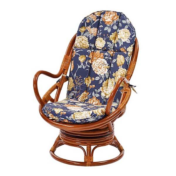 回転チェア 家具 トロピカル柄回転チェア 花柄チェア スツール 椅子 座椅子 アジアン エスニック 持ち運び簡単(代引不可)【送料無料】