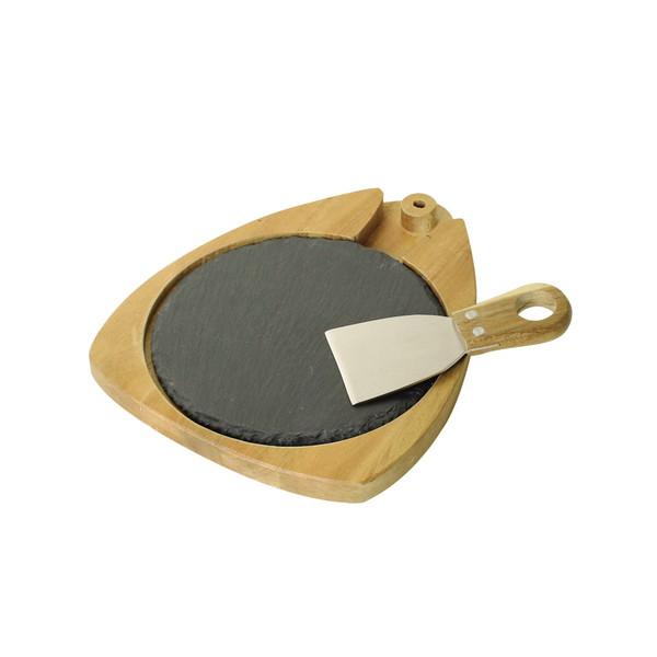 送料無料 受賞店 天然石でできているので 個々の形状に違いがあります 業界No.1 NEWDAY 代引不可 ラウンドナイフセット チーズスレートボード 生活雑貨