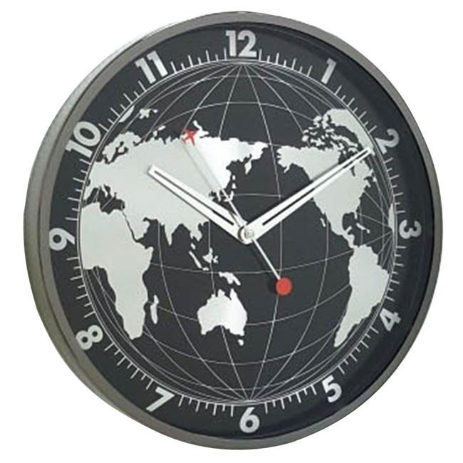 スパイス エッジウォールクロック グローブ EDGE WALL CLOCK GLOBE 30cm BLACK TELR1130BK(代引不可)【送料無料】