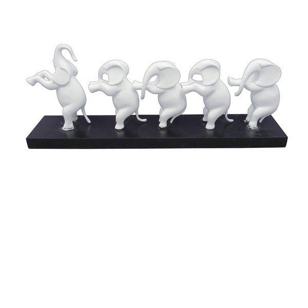 オブジェ 置物 インテリアオブジェ 置き物 ARTIFICIAL DECO ELEPHANT LINE(代引不可)【送料無料】