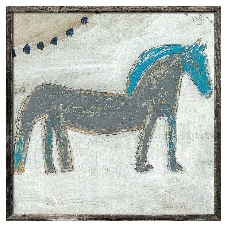 【送料無料】Sugarbooのアートでおしゃれにムーディーに Horse with Blue Mane SUGARBOO AP266-GW-24x24inch(代引不可)【送料無料】
