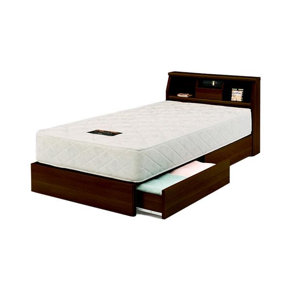 シングルベット コロナ ベッドフレーム 木製 ベッド シングル 引出収納 寝室 一人暮らし シンプル simple bed 家具(代引不可)【送料無料】