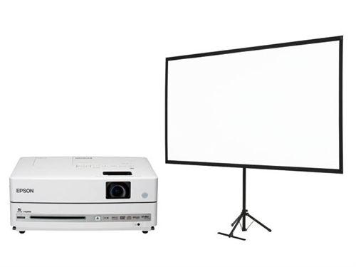 dreamio DVD・スピーカー一体型ホームプロジェクター/EH-DM30+80型スクリーンセット エプソン EH-DM30S(代引き不可)