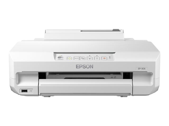 Colorio 多機能モデル EP-306(ホワイトモデル/A4/有線・無線LAN/EPSON-iPrint/前面2段+背面給紙/Blu-ray・DVD・CDレーベルプリント/6色染料) エプソン(代引き不可)