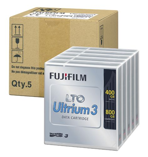 <LTOテープ>富士フイルムコンピューターメディア( LTO Ultrium 3 / 非圧縮時400GB・圧縮時800GB 5巻パック品 ) LTO FB UL-3 400G JX5(代引き不可)