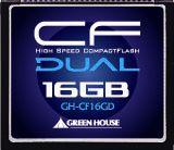 233倍速UDMA対応コンパクトフラッシュ ECC機能搭載 16GB グリーンハウス GH-CF16GD(代引き不可)