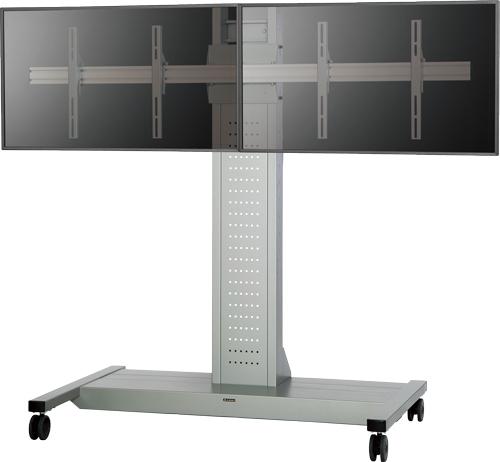 オーロラ AUROR 60インチ対応モニタースタンド2面設置タイプ FVS-55M2(代引き不可)【送料無料】