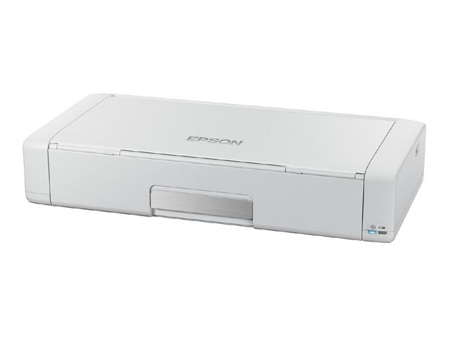 エプソン EPSON モバイルプリンター PX-S05W ホワイトモデル/バッテリー内蔵/Wi-Fi対応/1.44型液晶/4色顔料 PX-S05W():リコメン堂