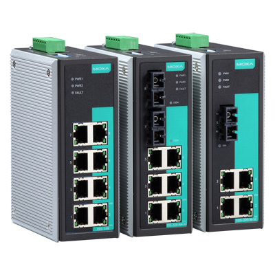 MOXA MOXA1 工業用イーサネットスイッチ 4ポートRJ45/1ポートシングルモードファイバSC 動作温度:-40から75℃ 40km シングルモード EDS-305-S-SC-T(き)【ポイント10倍】