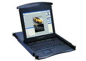 オースティンヒューズ OSTEN 1U 19インチLCDモニター 106キーキーボード ドロアー トラックボールマウス PS/2&USBコンボ N-119B(代引き不可)