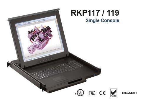 オースティンヒューズ OSTEN 1U 19インチLCDモニター キーボード ドロアー トラックボールマウス 32ポート Cat6 Matrix-KVMスイッチ 3コンソール IPユーザー1 RKP119-MU 代引き不可