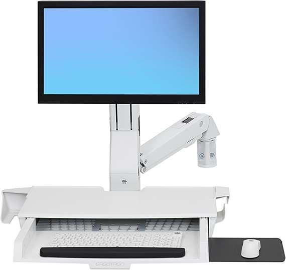 ERGOTRON StyleView 座位・立位コンボ、作業スペース付き (ホワイト)()
