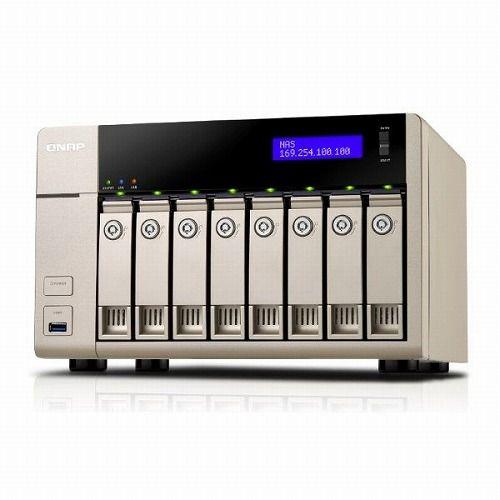 QNAP TVS-863 48TB HDD搭載モデル (WD ミドルクラス 6TB HDD x 8 搭載) TV8638MW60()【ポイント10倍】【送料無料】
