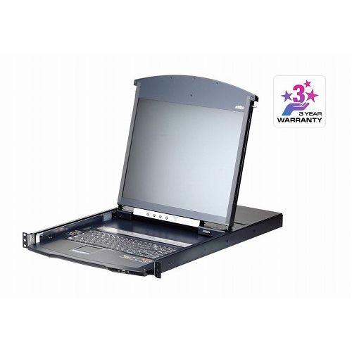 ATEN 19インチ 8ポート カテゴリ5e デュアルスライド LCD IP-KVMドロワー ロングレール KL1108VNJJL/ATEN()【ポイント10倍】