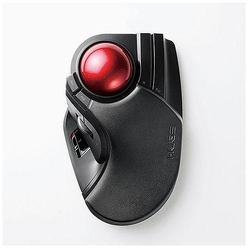 エレコム トラックボールマウス/大玉/8ボタン/チルト機能/無線/ブラック M-HT1DRBK(代引不可)