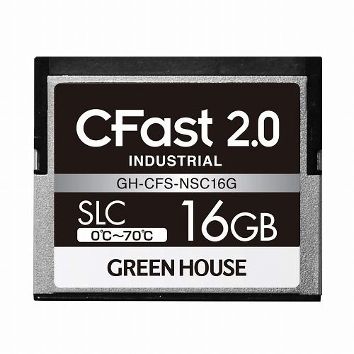 グリーンハウス CFast2.0 SLC 0~70℃ 16GB GH-CFS-NSC16G(代引不可)