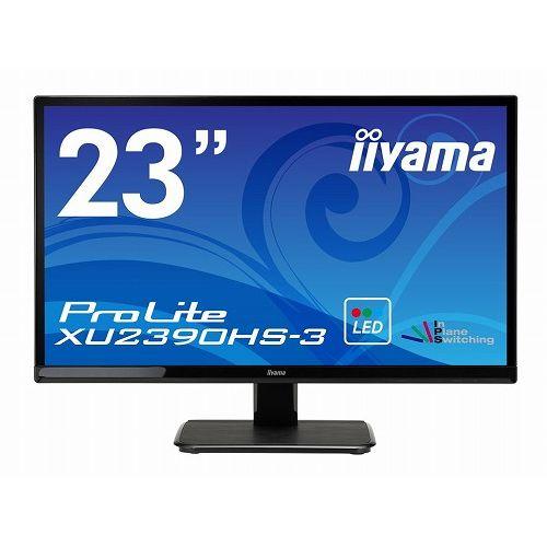 イーヤマ (ProLite)23インチワイドAH-IPS+パネル XU2390HS-B3(1920x1080/D-Sub15Pin/DVI/HDMI/ブラック)(代引不可)