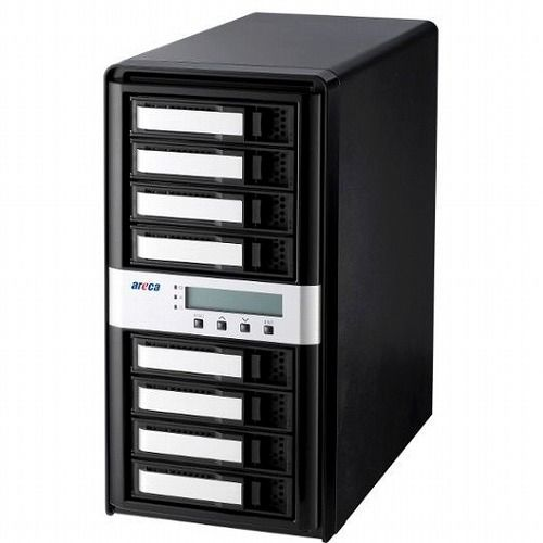 聖仁商事 Thunderbolt3接続 HDD/SSDx8台搭載用外付RAIDケース ARC-8050T3-8(代引不可)