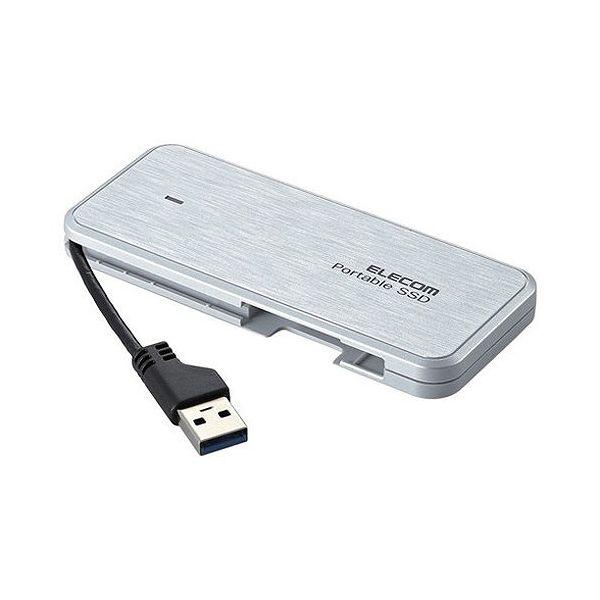 エレコム 外付けSSD ポータブル ケーブル収納対応 USB3.1(Gen1)対応 480GB ホワイト ESD-EC0480GWH(代引不可)【送料無料】