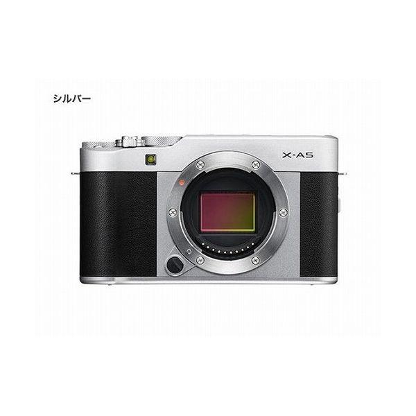 富士フイルム (X)FUJIFILM ミラーレス一眼カメラ X-A5・ボディ(2424万画素 シルバー) X-A5-S():リコメン堂