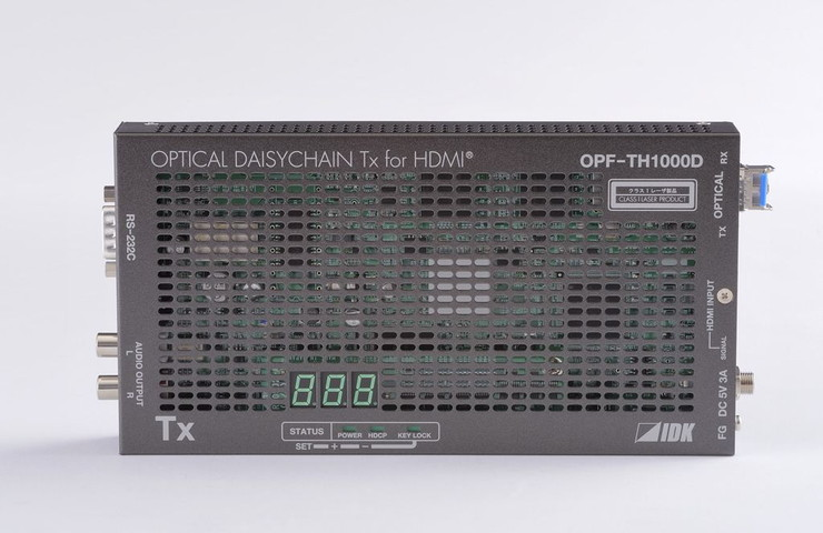 アイ・ディ・ケイ HDMI光ファイバケーブル送信器(シングルモードファイバー)デイジーチェーンモデル OPF-TH1000D-SM(代引不可)