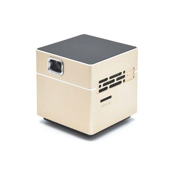 日本トラストテクノロジー ポータブルプロジェクター CUBE ゴールド SPCUGD(代引不可)