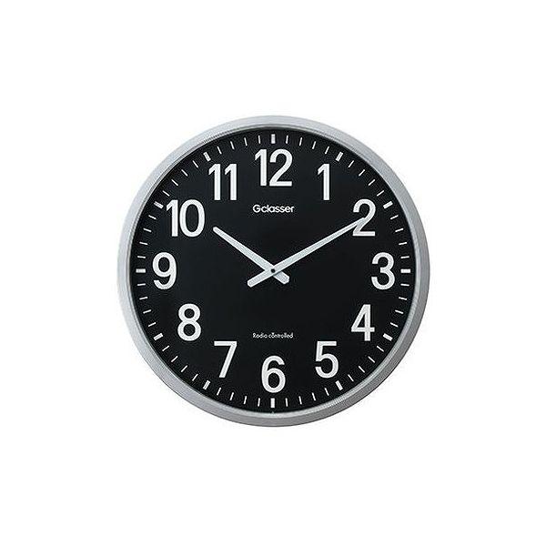 キングジム 電波掛時計 ザラージ黒文字盤 GDK-001K(代引不可)