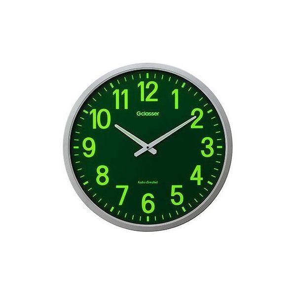キングジム 電波掛時計 ザラージ集光・蓄光文字盤 GDKS-001(代引不可)【送料無料】