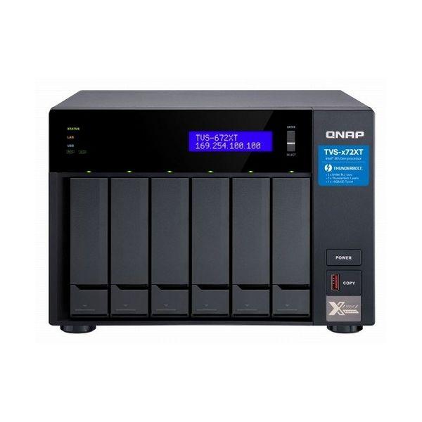 QNAP TVS-672XT-i3-8G 24TB搭載モデル(タワー型 NAS ミドルクラスHDD4TBx6個搭載) TVS-672XT 24TB()【ポイント10倍】