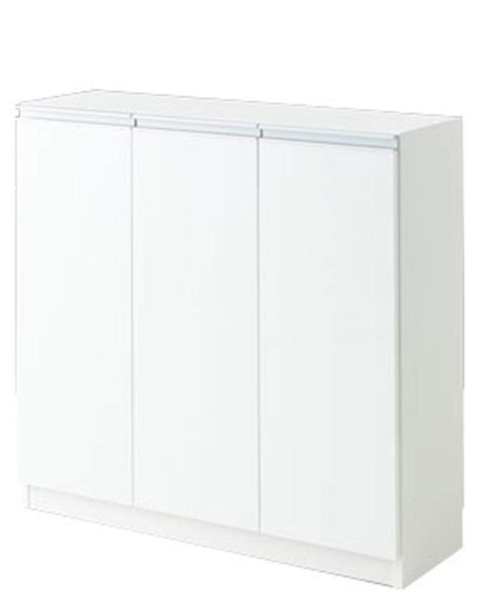 キッチンカウンター 収納 カウンター下収納 エール90D WH(代引き不可)【送料無料】【int_d11】
