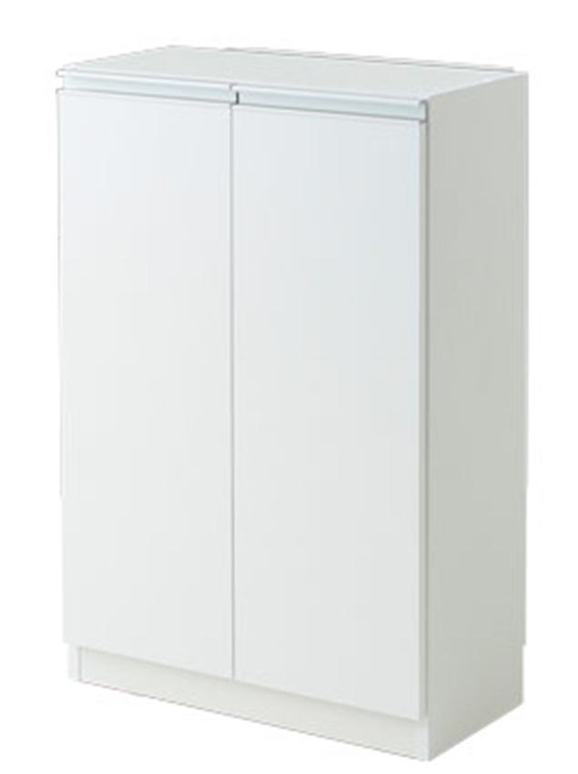キッチンカウンター 収納 カウンター下収納 エール60D WH(代引き不可)【送料無料】