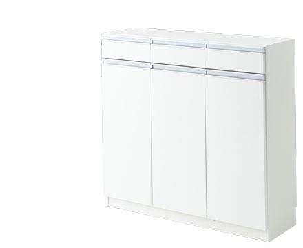 キッチンカウンター 収納 カウンター下収納 エール90H WH(代引き不可)【送料無料】