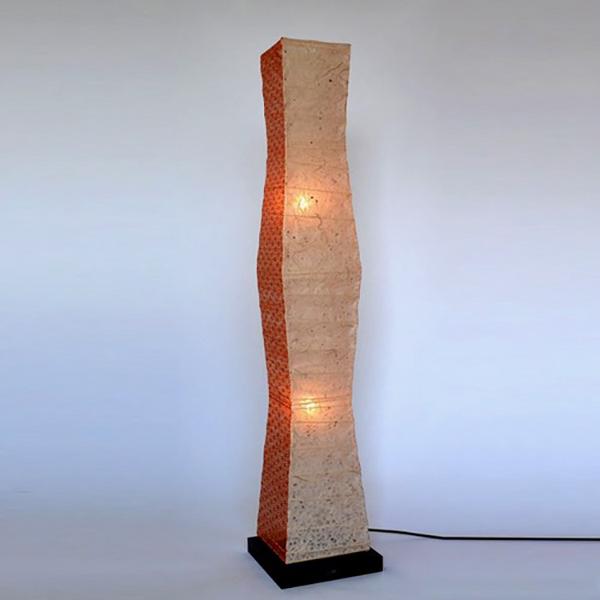 日本製和紙照明 一番人気 四角柱絞りフロアライト【送料無料】